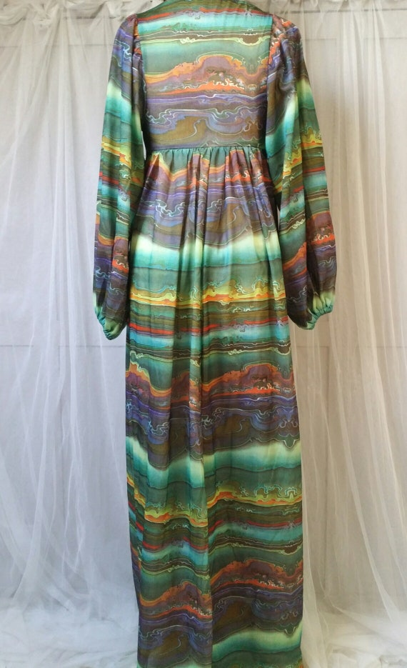 Hideously Funky Vintage1970s Multi Colour Psyched… - image 10