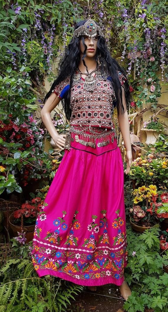Amazing Vintage /Antique Pink and Multicoloured Ku