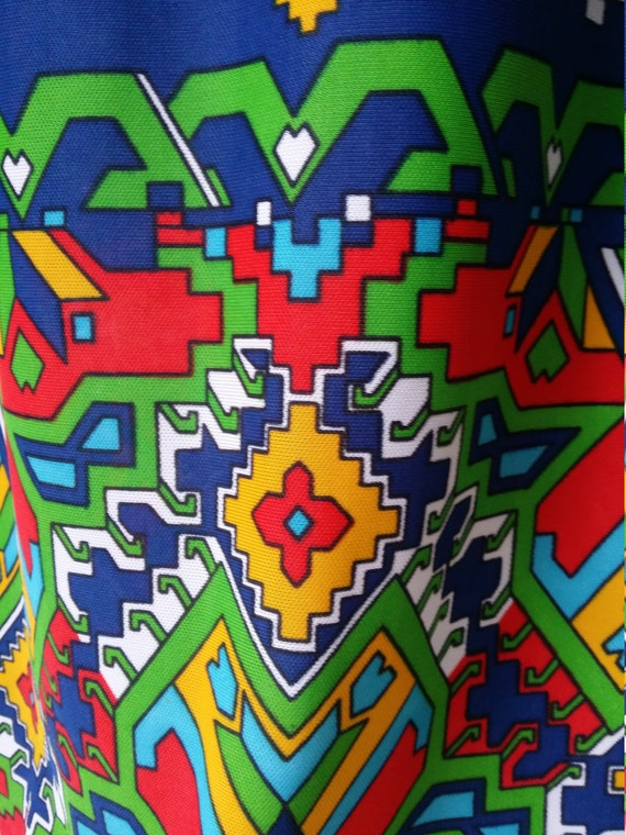 Epic Vintage 1960s Psychedelic Blue, Yellow, Red … - image 2