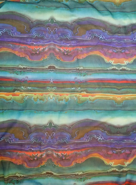 Hideously Funky Vintage1970s Multi Colour Psyched… - image 5