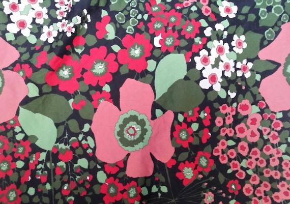Stunning Vintage 1960s Black, Pink, Red, White an… - image 2