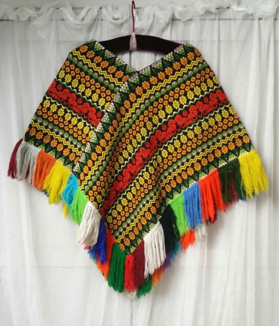 Fabulous Vintage 1960s Woven/Tapestry Vibrant Mult