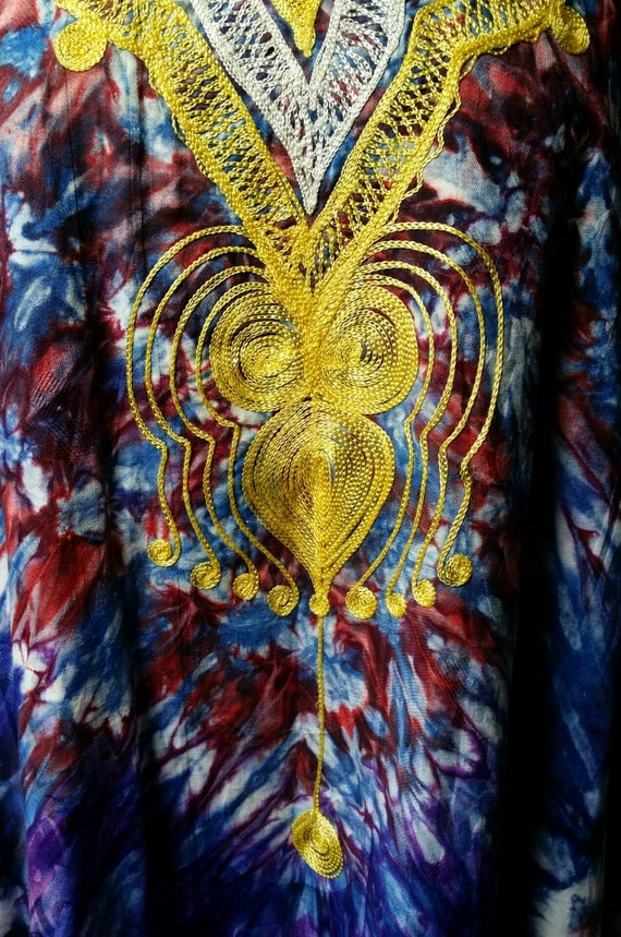 Epic Vintage 1970s Psychedelic Tie Dyed Cotton an… - image 7