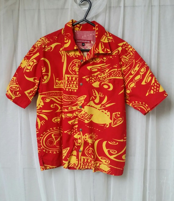 Fabulous Vintage Bright Red and Yellow Abstract Pr
