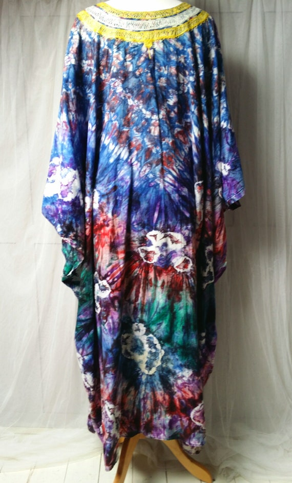 Epic Vintage 1970s Psychedelic Tie Dyed Cotton an… - image 10