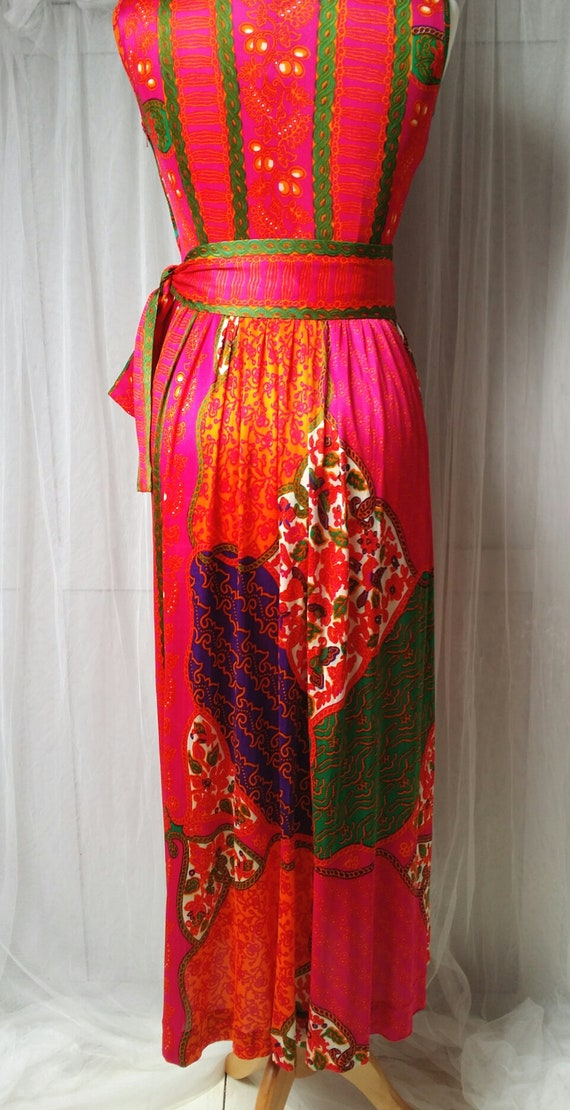 Gorgeous Vintage 1970s Susan Small Psychedelic Pi… - image 10