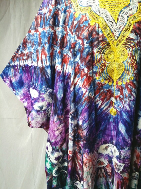 Epic Vintage 1970s Psychedelic Tie Dyed Cotton and