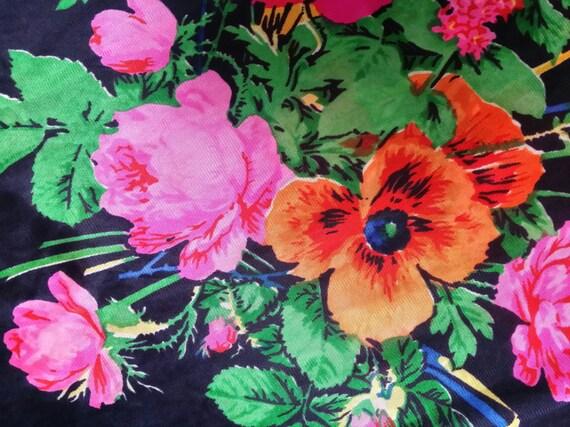 Stunning Vintage 1970s Black, Pink, Red, Green an… - image 5