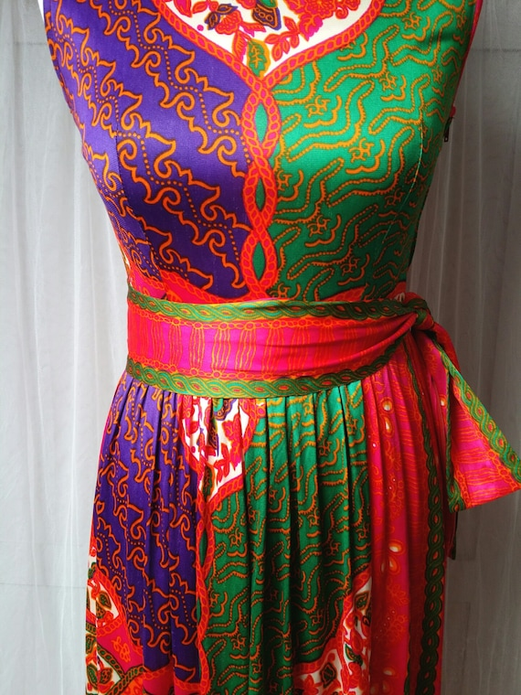 Gorgeous Vintage 1970s Susan Small Psychedelic Pi… - image 5