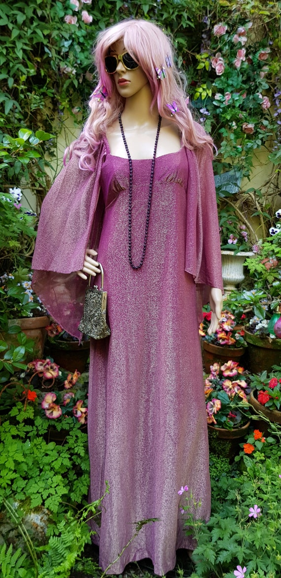 Amazing Vintage 1970s QUAD Pink and Gold Two Tone