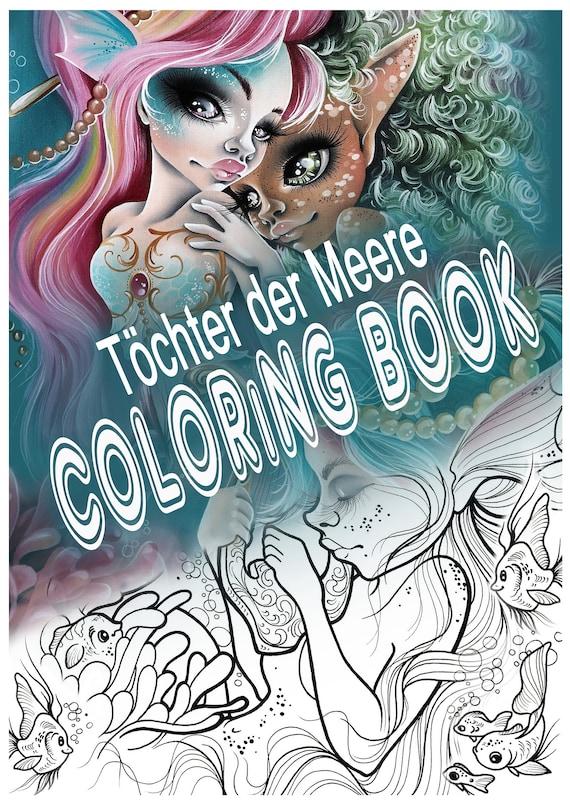 Filles De L Art De Sirène Sea Coloring Book Livre De Dessin Pour Enfants Et Adultes