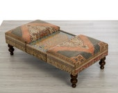 Ottoman Coffee Table with Turkish Tiles