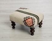 Footstool - Hemp Rug Ottoman