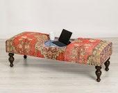 Bench - Ottoman Coffee Table with Turkish Tiles