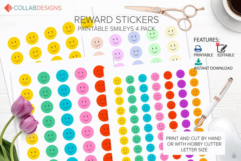 photo regarding Printable Sticker Chart known as Printable Stickers, smiley confront stickers, chart stickers, entertaining youngsters stickers, gain stickers Instantaneous Obtain - Design Step Fastened