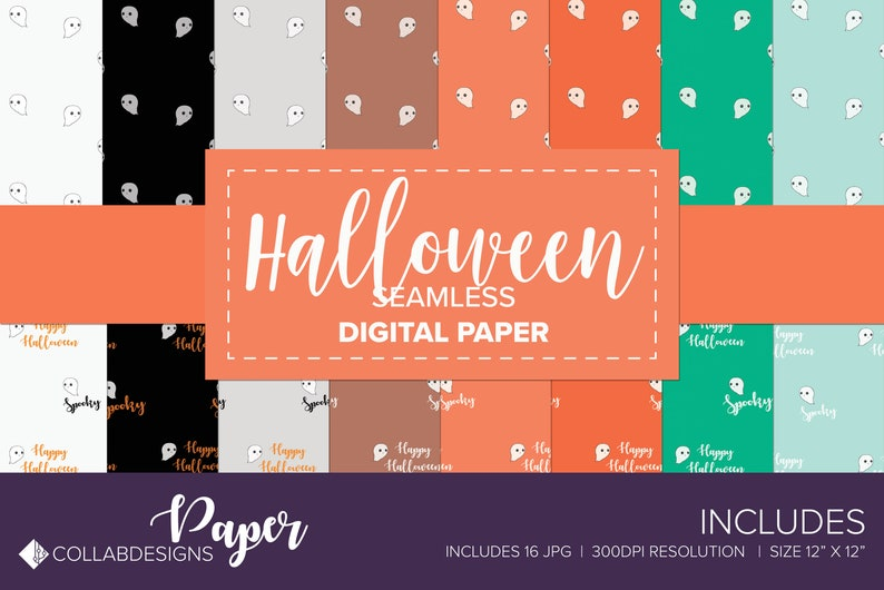 photo relating to Printable Ghost Pattern named Halloween seamless behavior printable electronic practice quick down load ghost practice halloween behavior wrapping paper do it yourself and planner crafts