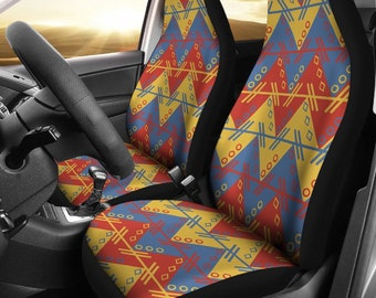 Aztec Motif Car Seat CoversGift CoverColored CoverUniversal Fit For CarCar Front SeatCar Protector