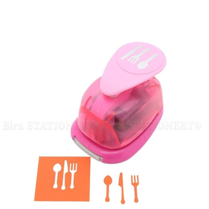 Bira 1 inch Silverware Lever Action Craft Punch for Paper Crafting Scrapbooking