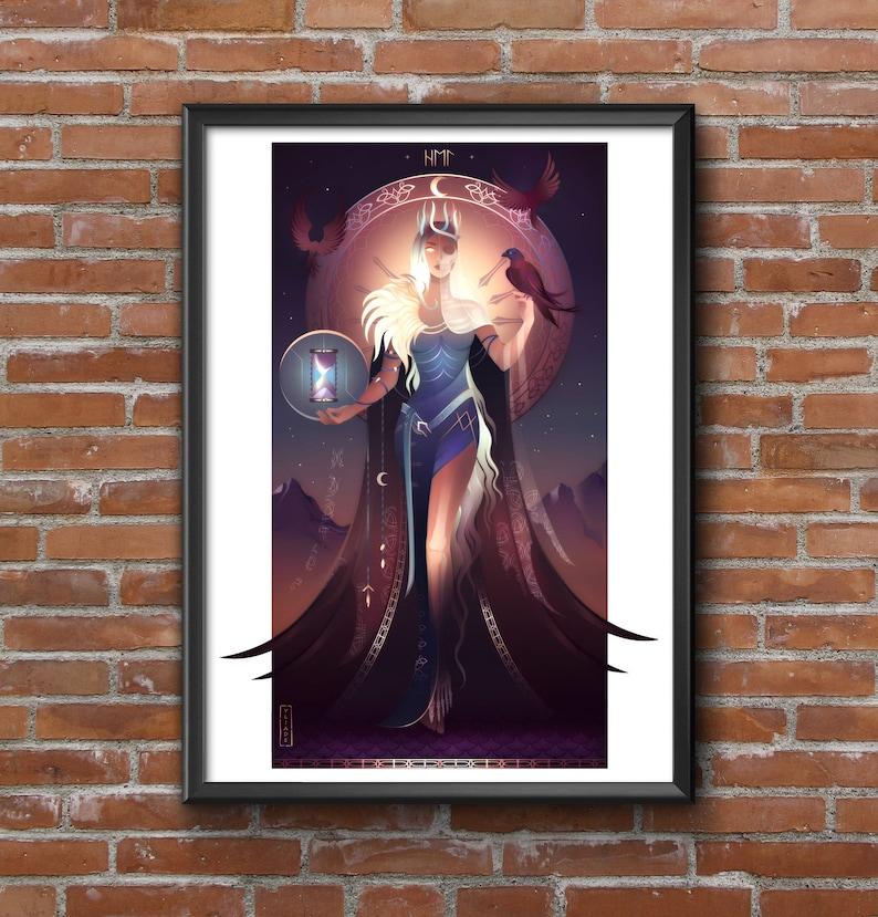 Printing of Art  Hel  Nordic Gods and Goddess image 0