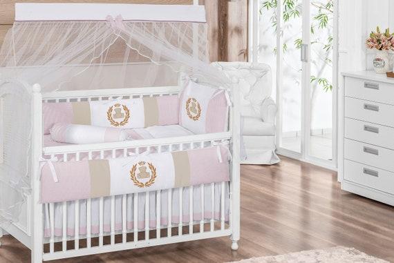 Balloon Sky Theme Navy Blue Baby Boy 7pc Nursery Crib Bedding Set Embroidered