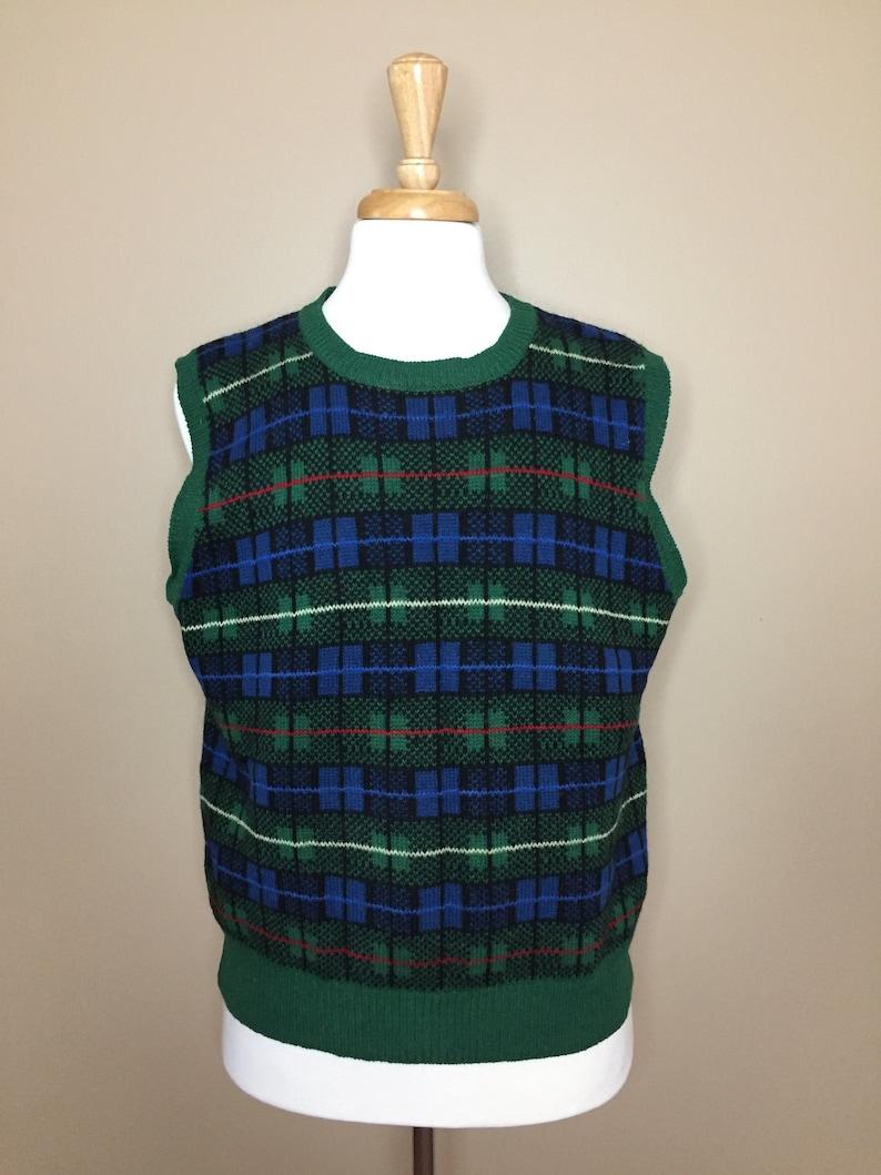 d678de88c91 Vintage Wool Sweater Vest Ugly Christmas Sweater Vest