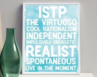 ENFP Meyers Briggs Personality Type MBTI Poster The   Etsy