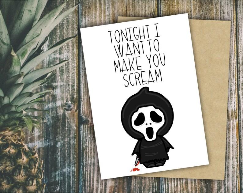 Horror Valentine Card Scream Valentine Ghostface Printable Etsy