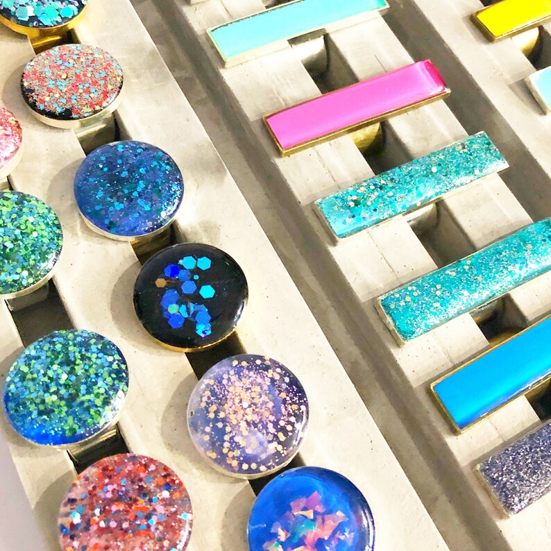Short Oblong Plain Colour Statement Resin Ring Stocking Stuffers for Women Jewelry Gift for Woman Cocktail Bold Abstract Ring
