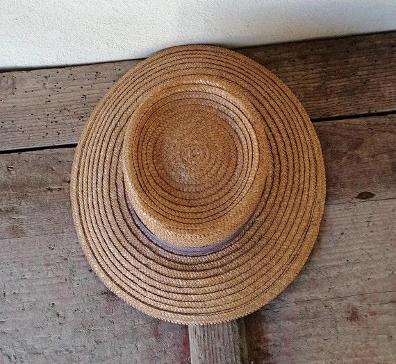 Vintage women's hat, straw women's hat, summer ha… - image 5