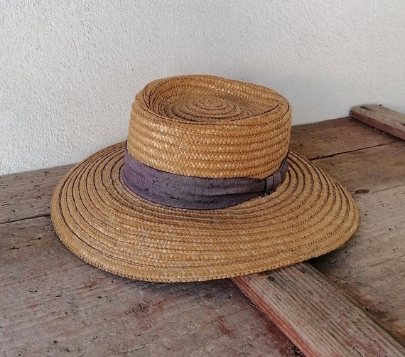 Vintage women's hat, straw women's hat, summer ha… - image 2