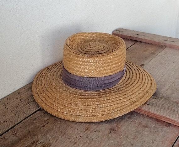 Vintage women's hat, straw women's hat, summer ha… - image 3
