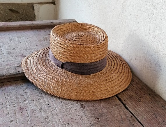 Vintage women's hat, straw women's hat, summer ha… - image 4