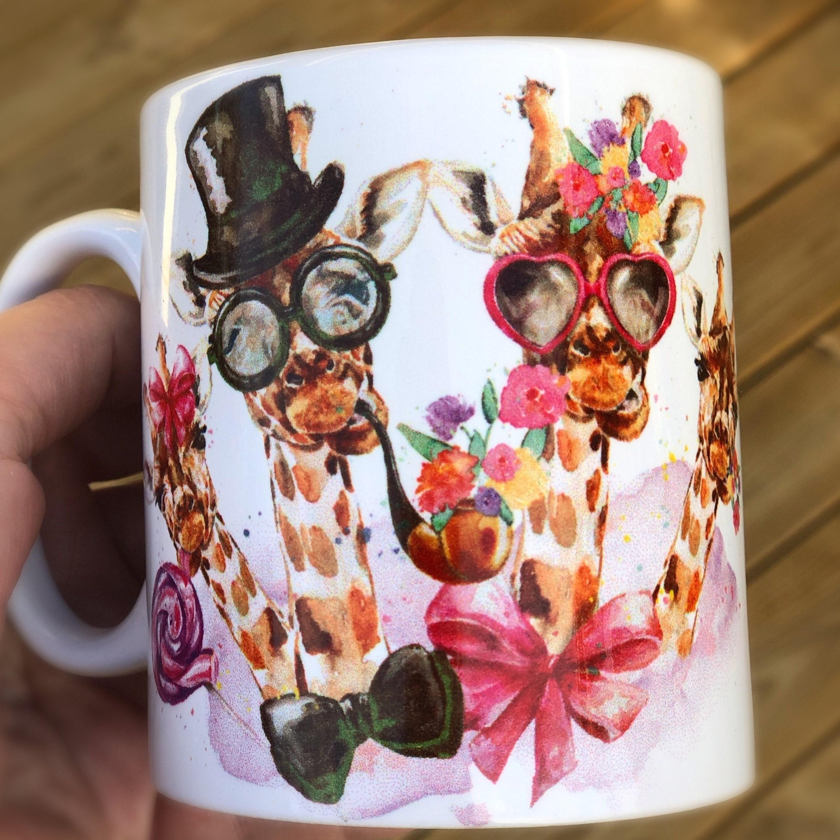 8aa82cf38d4 Giraffe Personalized Mug - gift - Mug - coffeecup - Quote - Cups - Your  text - your name - animal - giraff -family