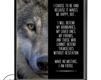 Wolf quote | Etsy
