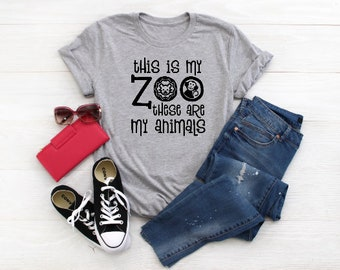 d5fd9698 This is my zoo these are my animals TShirt // Mom Shirt // Mom T Shirts //  Mothers day gift / Cute Funny Mom TShirts Design // Womens Shirts