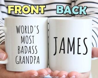 Grandpa Mug Gift For Father Day Birthday Funny Present Personalized Grandparent