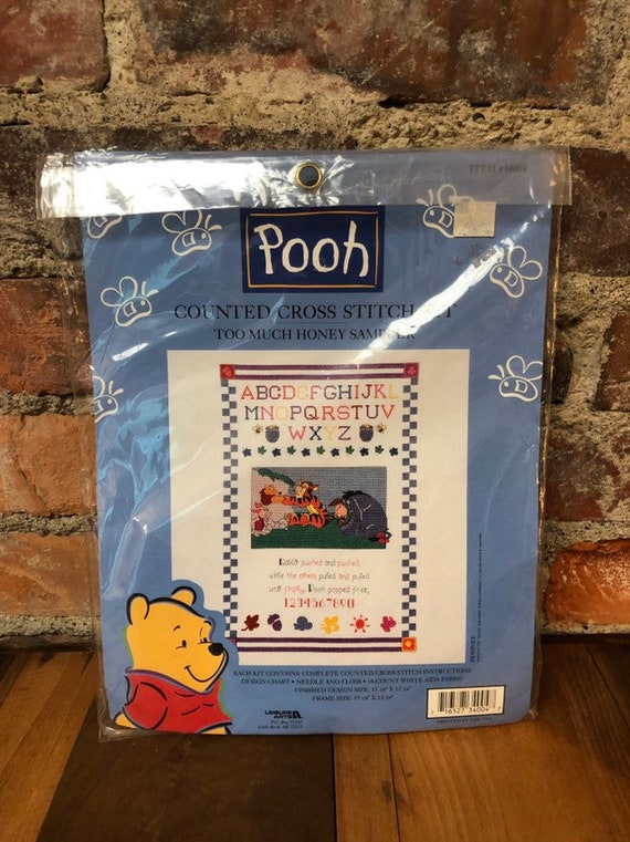 Classic Winnie the Pooh Numbers Sampler Cross Stitch Kit *NEW*