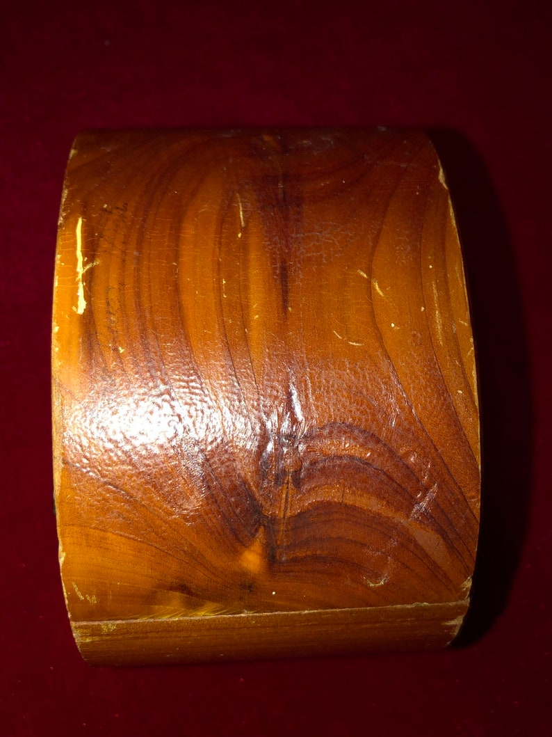Vintage Iron River Michigan Souvenir Cedar Art Deco Style Trinket Box