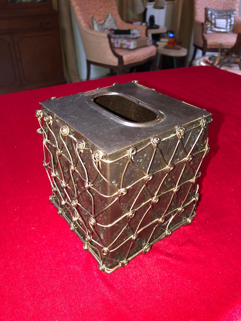 Twisted Wire Wrapped Square Tissue Box Cover