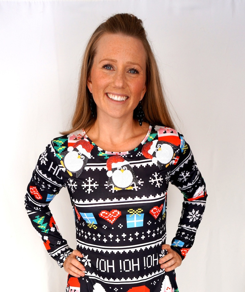 e36c629c350 Ugly Christmas Sweater Dress Large Ugly Christmas Sweater