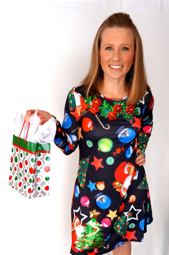 Ugly Christmas Dress.Ugly Christmas Sweater Dress X Large Ugly Sweater Dress Ugly Christmas Dress Tacky Christmas Sweater Ugly Sweater Christmas Party