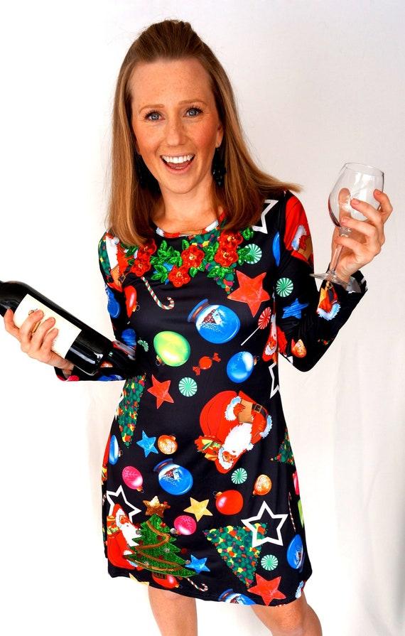Ugly Christmas Dress, Ugly Christmas Sweater dress, Ugly Christmas Dress, Tacky  Christmas Sweater, Ugly Sweater Christmas Party