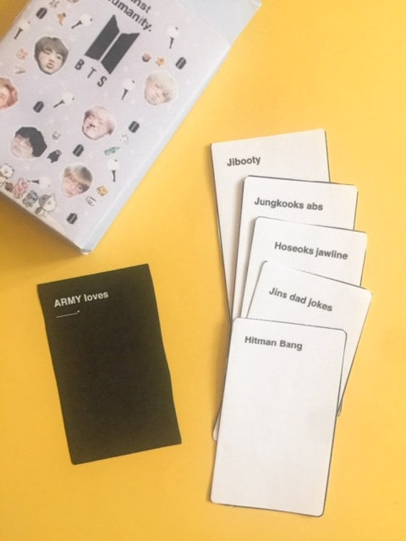 New Card Game Against Humans Bts Edition Etsy