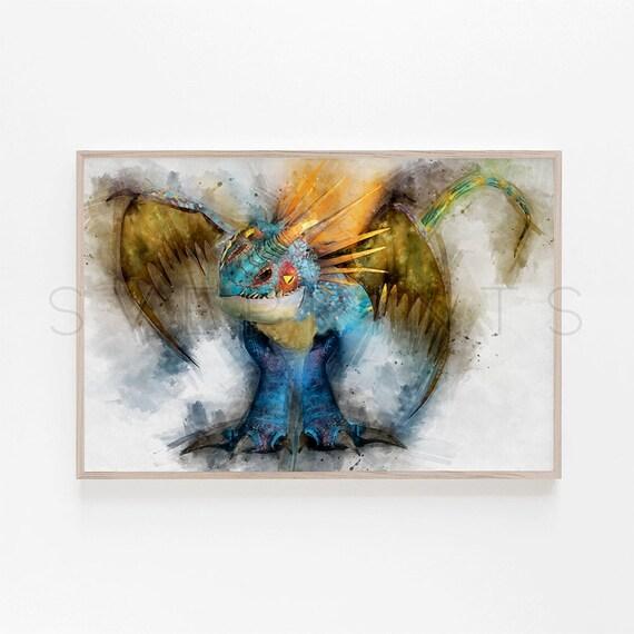 European Dragon Painting Wall Art