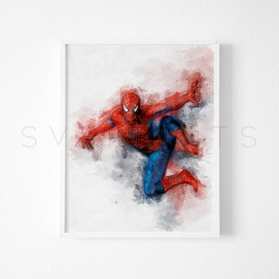 SPIDERMAN MARVEL PICTURE PRINT DRAWING SUPERHERO A4 A3 WALL ART DECOR GIFT