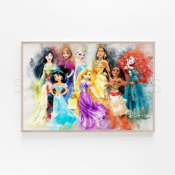 Cartel De La Princesa Disney Princesa Imprimir Princesas Arte Etsy