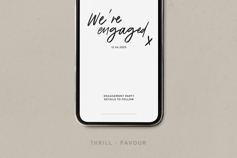 Custom Template INSTANT DOWNLOAD Electronic Engagement Announcement for Instagram Digital Wedding Proposal Announcement I Said Yes