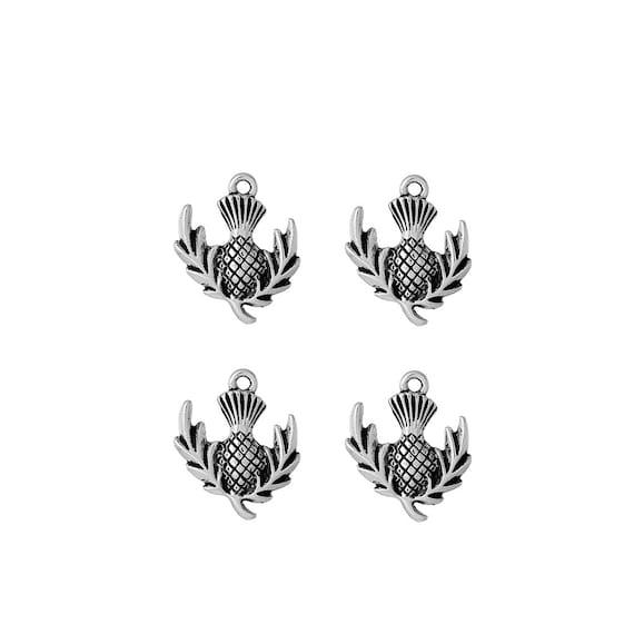 10 x Tibetan Silver THISTLE SCOTTISH THISTLE FLOWER PLANT Charms Pendant Bead