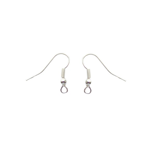 50Pairs Silver Plated Metal Earwires Fish Hook Earrings Wires 100 Pcs
