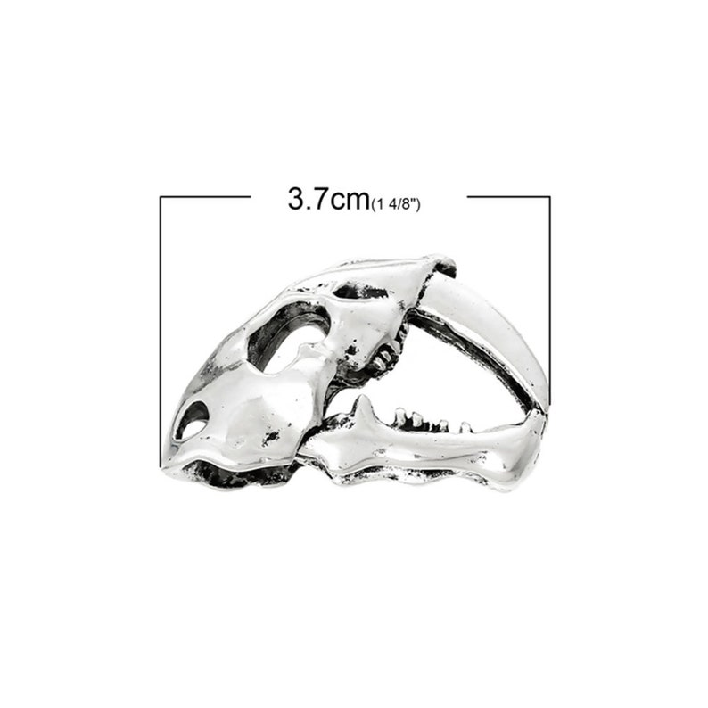2  Pcs Tibetan Silver HALLOWEEN DINOSAUR SKULL 3D 37mm x 24mm Charms Pendants,Lead /& Nickel Free Metal Charms Pendants Beads